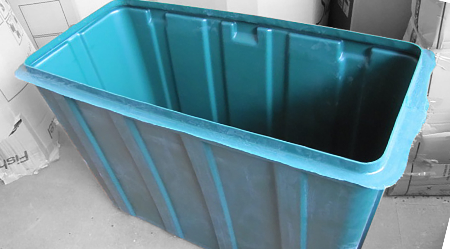 Rotational Moulding used to create plastic bin
